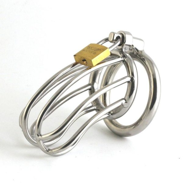 Male Chastity Devices Stainless Steel Cock Cage For Men