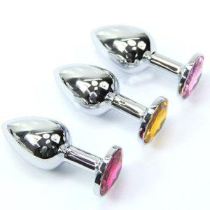 Metal Jeweled Plug