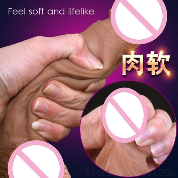 New Skin Feeling Realistic Huge Dildo With Suction Cup