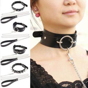 Rivet Alternative metal slave PU Leather Collar