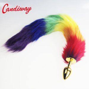 """27"""" Rainbow Tail Plug"""