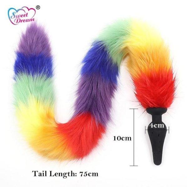 """28"""" Rainbow Tail Plug"""