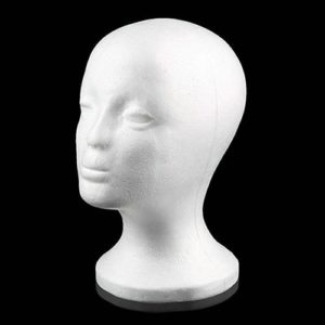 Practical Foam Female Mannequin Head Wigs Glasses