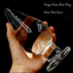 Super Large Transparent Crystal Glass Plug
