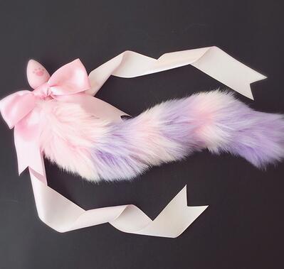 "28"" Silicone Cat & Fox Tail Plug"