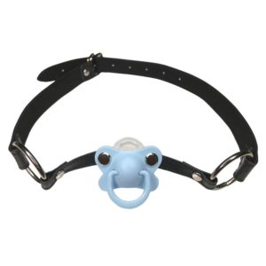 DDLG/ ABDL Adult Baby Blue Pacifier Gag