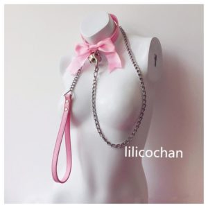 sailor moon bow bell Leather Collar