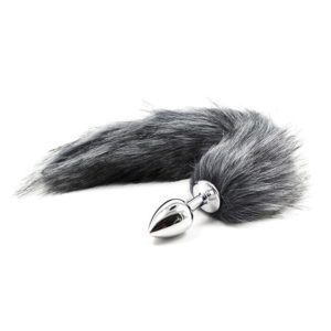 Smooth Metal Fox Tail Plug