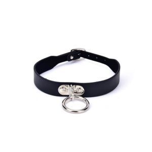 Metal Leather Choker