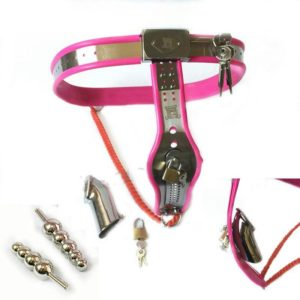 Female & Male Dual Purpose Steel Chastity Belt Device