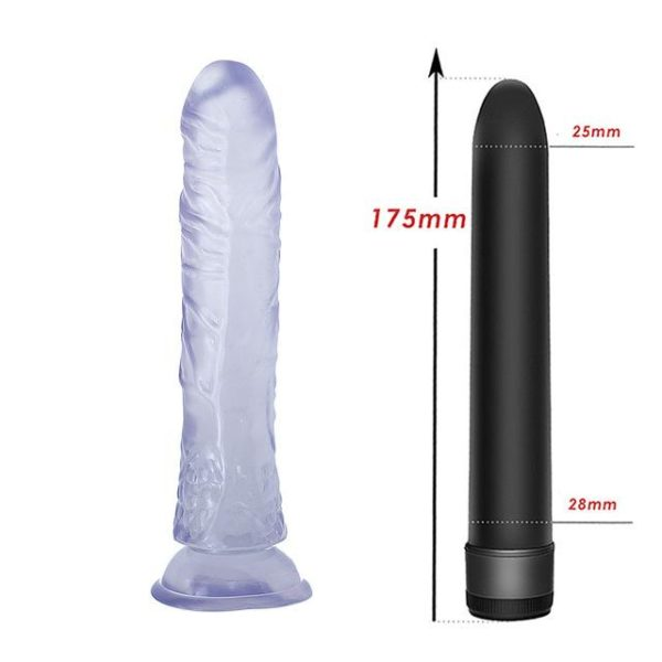 Realistic Soft Suction cup Dildo with Vibrator