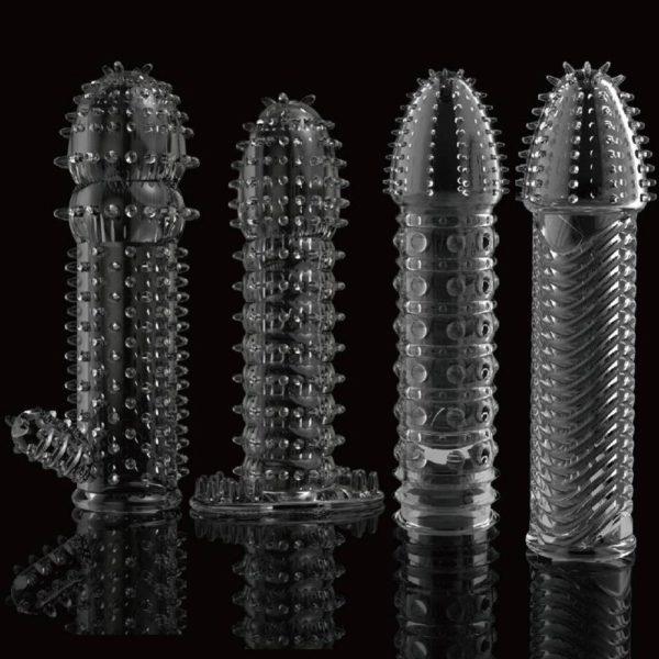 4MB Reusable Condom Lube Textured Extender Sleeve